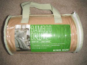 NEW Bamboo Delight  Series Sheet Set (camel) *king size