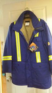 New Men's Flame Resistant Hi Vis Jacket