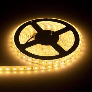 New Warm White LED Strip Light 16ft 300leds smd 5M