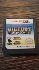 Nintendo ds. Bigfoot collision course.