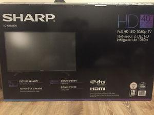 """ONE MONTH OLD - Sharp 40"""" full hd p tv"""