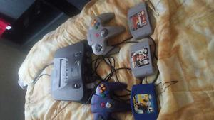 Selling a nintendo 64 with 2 controllers and 3 games