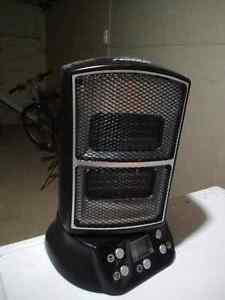 Small space heater with remote