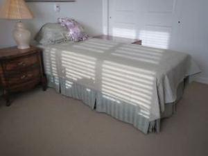 ALMOST NEW SINGLE BED AND ALL BEDDINGS