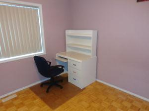 Computer Desk, Chest of Drawers and Chair