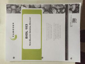 FREE Camosun Biology 103 course pack