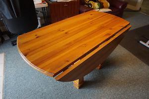 Heavy Duty Wood Drop Leaf Dining Table
