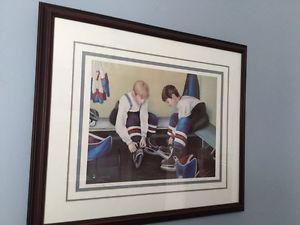"""NL artist Dawn Baker framed art """"Teammates"""" ($160 value)"""