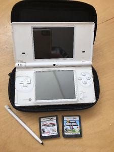 Nintendo DSI with Mario Cart DS and Super Mario Bros. games