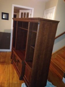 Wooden TV stand and entertainment center