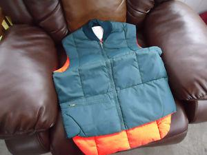 size small winter vest and new work pants