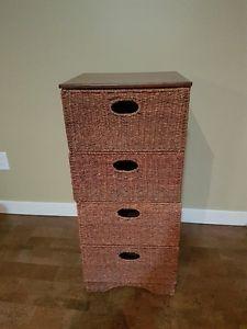 4 Drawer Wicker Cabinet