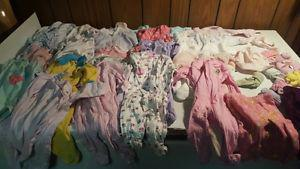 For Sale: Newborn to 3 mo girls clothes.