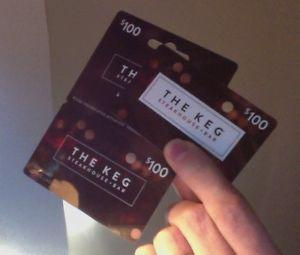 Gift Cards for THE KEG worth $118