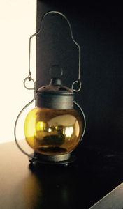 Globe Style Lanterns - Yellow Globe & Black base (2)