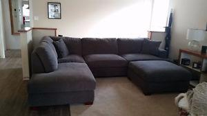 Gorgeous couch and ottoman