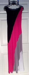 Ladies Color Block Maxi-Dress