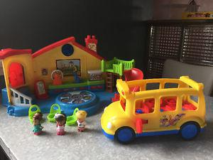 Little People Preschool and School Bus