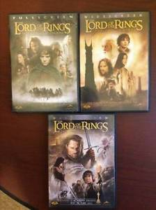 Lord Of The Rings 1, 2 and 3