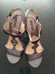 Michael Kors Leather Heels Size 7.5