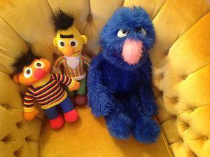 Vintage Sesame Street Ernie, Bert & Grover- $8.00 EACH