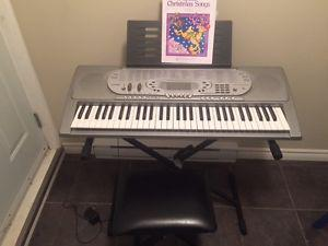 Casio 61 Key Electric Keyboard Complete with Stand and Seat