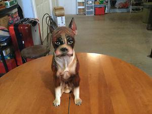 Ceramic Boxer Dog Statue