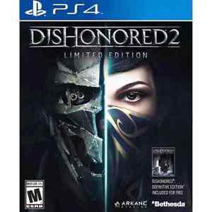 Dishonored 2 Limited Edition PS4 New in plastic.