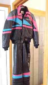Ladies Polaris leather snowmobile suit