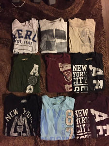 Lot of 9 Large Men's Aeropostale T-Shirts for sale