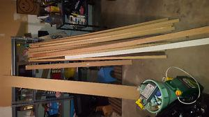 Lot of mdf boards and other trim