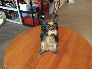 Old Bulldog/French Bulldog Statue