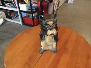 Old Bulldog/French Bulldog Statue
