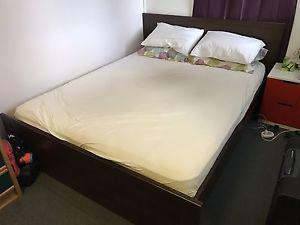 PRICE REDUCED- IKEA Bed, Mattress, Side Table, TV and TV
