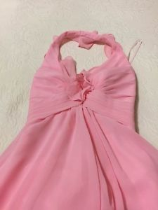 Pink long gown. Never worn. Size six.