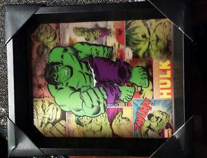 SPIDERMAN, HULK AND CAPTAIN AMERICA ART PICTURES-$45 EACH