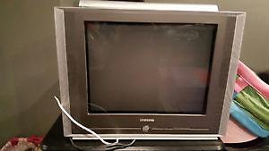 Samsung TV with wall mounting bracket
