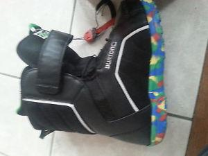snowboard boots and helmets