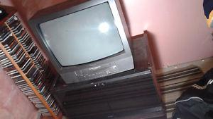 tv/vhs combo with tv stand