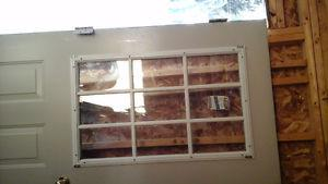 36 inch outside door with window good condition