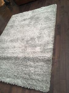 Brand New Light Grey Shag Rug. $100 FIRM.