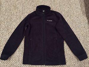 Columbia youth large () black zip up fleece