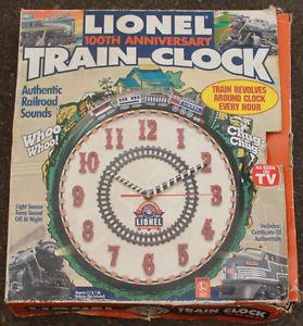Lionel 100th Anniversary Clocks New in Box