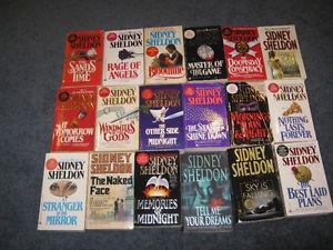 Lot of 18 sidney sheldon books $15 for the lot