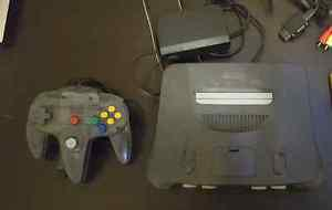 Nintendo 64 with controller and game