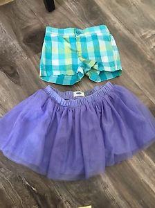 Old navy and joe fresh skirt and shorts size 4