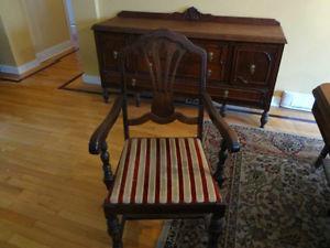 Solid Antique Dinining Room set