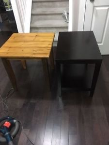 Solid Wood End table or Night stand. Blonde table is 2 ft