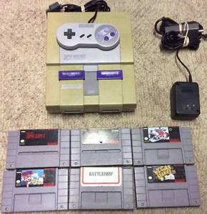 Super Nintendo with Controller and 6 Games!