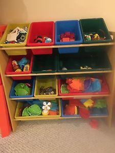 Toy Organizer with bins